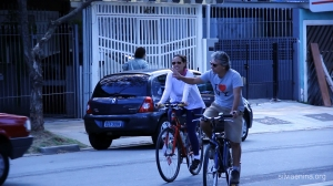 ciclistas chegando