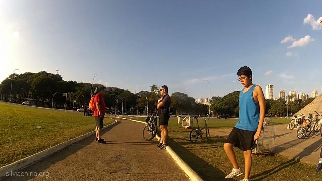 Ciclistas se encontram