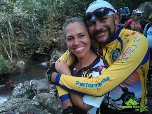 Maria Aparecida e seu amigo Gaspar Bike