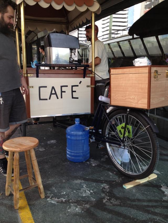 Ciclo Café e Wagner! Ele chegou pedalando, que incrível!!!!