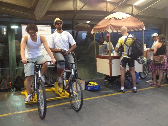 ciclistas na Gerônima