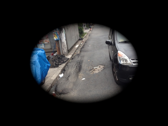 foto 01: Saliência no asfalto